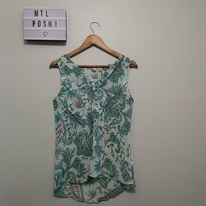 3/22$ Twik green floral camisole
